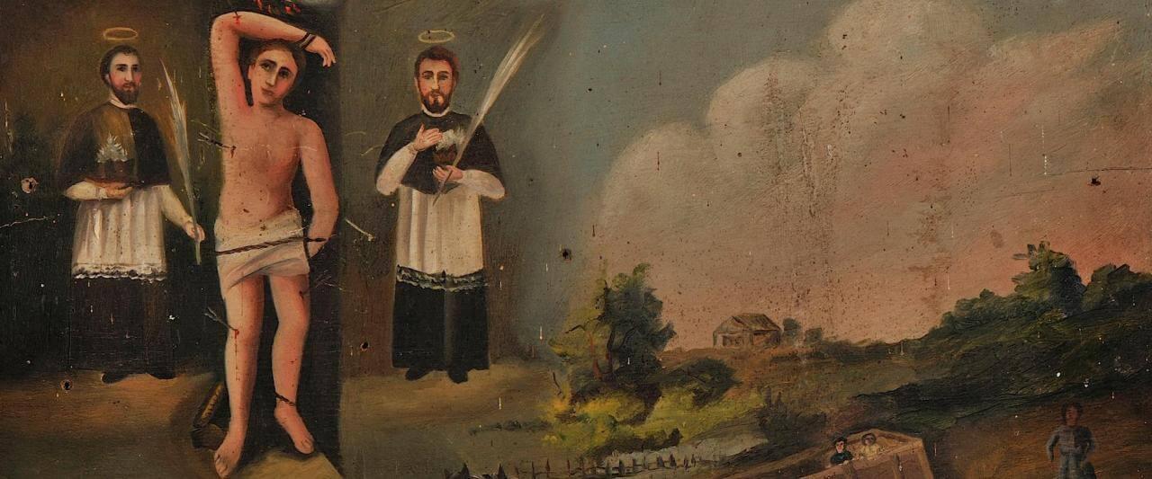 Retablo devocionario a Los Santos Médicos | Testimonios de fe: Colección de Exvotos del Museo Amparo | Museo Amparo, Puebla
