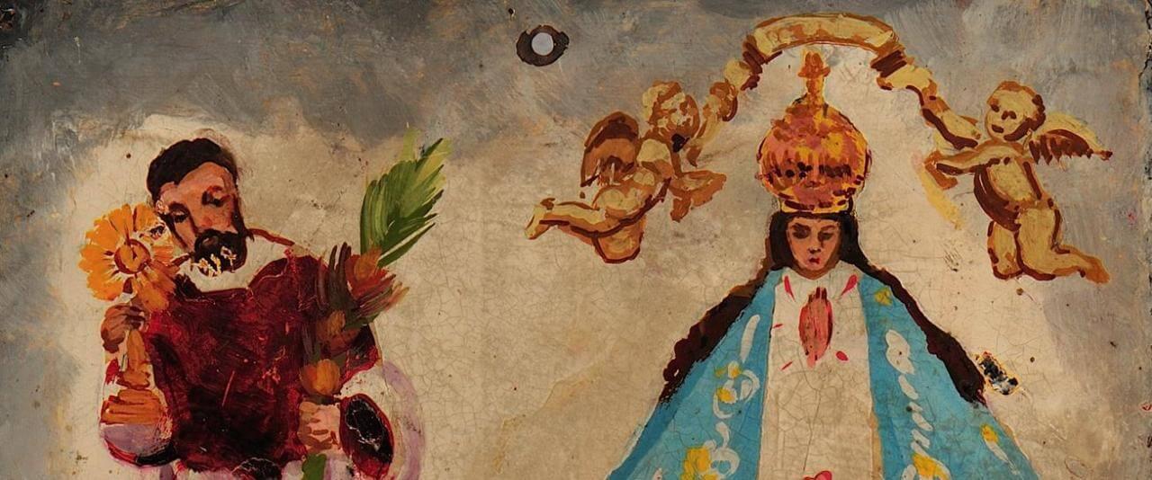 Retablo a San Ramón Nonato, Virgen de San Juan | Testimonios de fe: Colección de Exvotos del Museo Amparo | Museo Amparo, Puebla