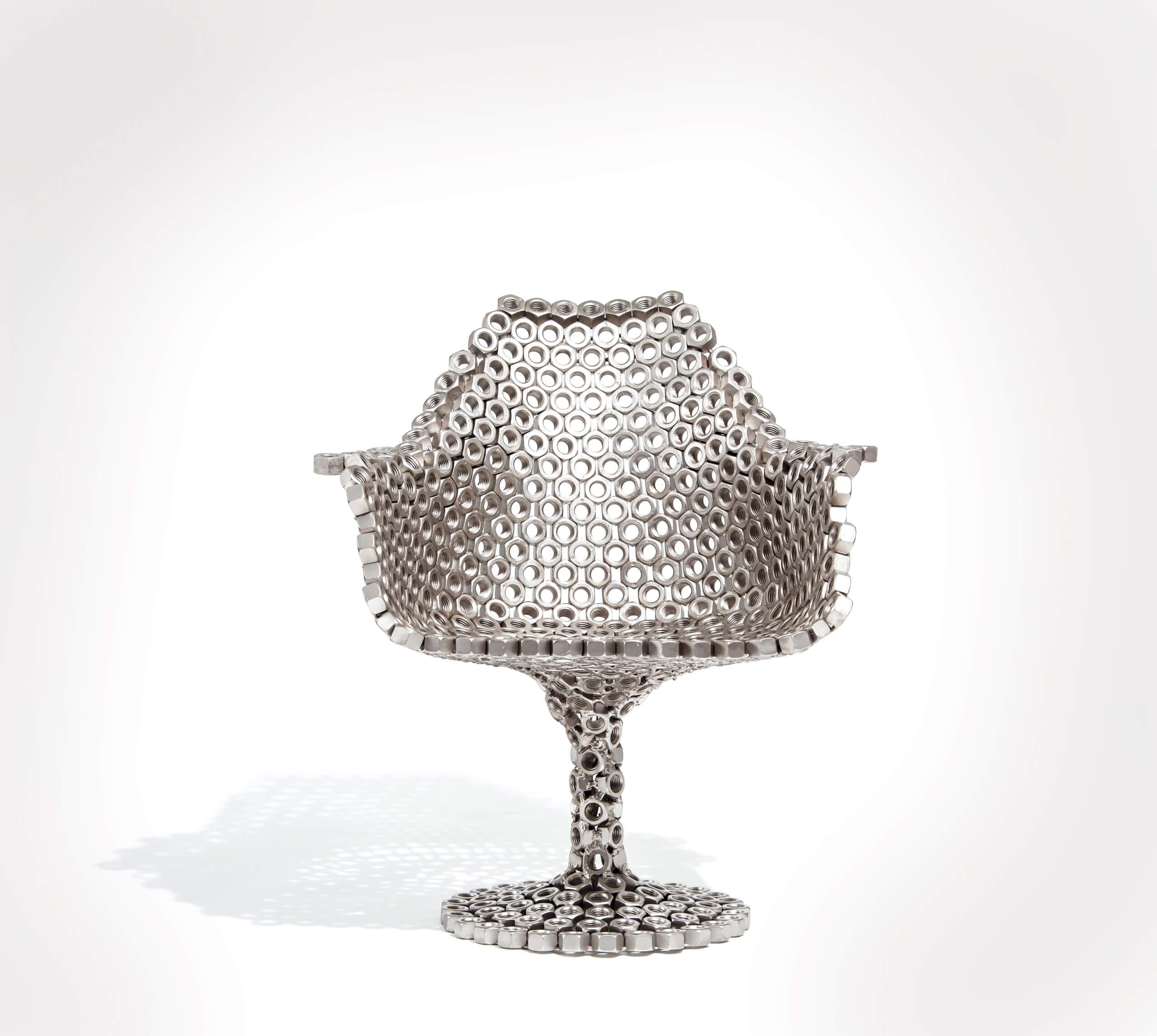 Tulip Bolts Chair | Nuevos Territorios. Laboratorios de diseño, artesanía y arte en América Latina | Museo Amparo, Puebla