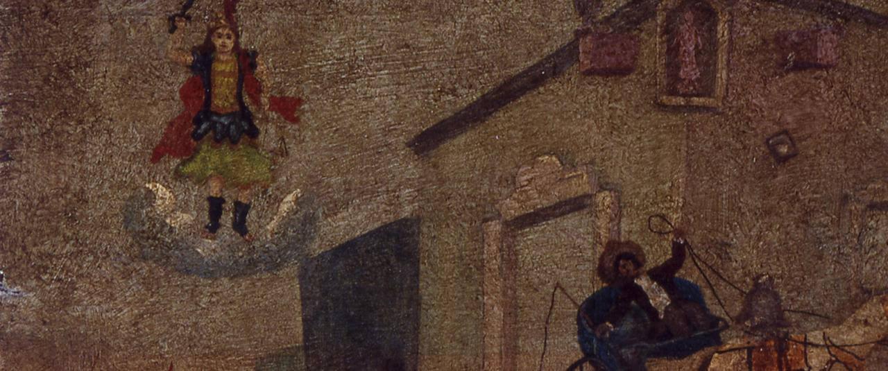 Retablo a San Miguel Arcángel | Testimonios de fe: Colección de Exvotos del Museo Amparo | Museo Amparo, Puebla