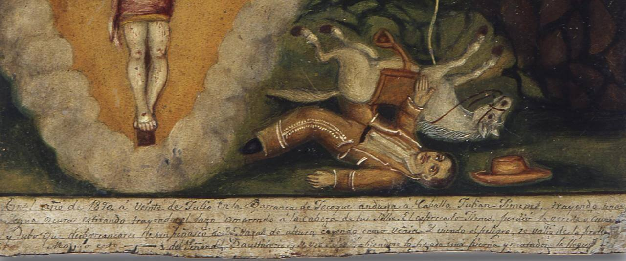 Retablo al Señor del Bautisterio | Testimonios de fe: Colección de Exvotos del Museo Amparo | Museo Amparo, Puebla