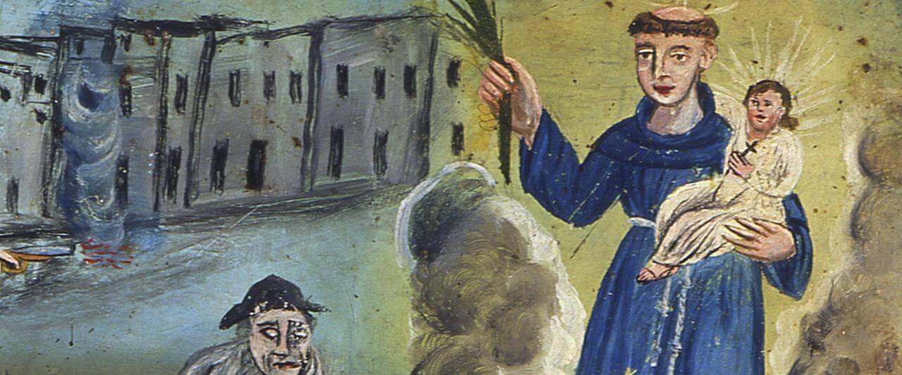 Retablo a San Antonio de Padua | Testimonios de fe: Colección de Exvotos del Museo Amparo | Museo Amparo, Puebla