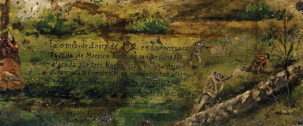 Retablo al Señor del Hospital | Testimonios de fe: Colección de Exvotos del Museo Amparo | Museo Amparo, Puebla