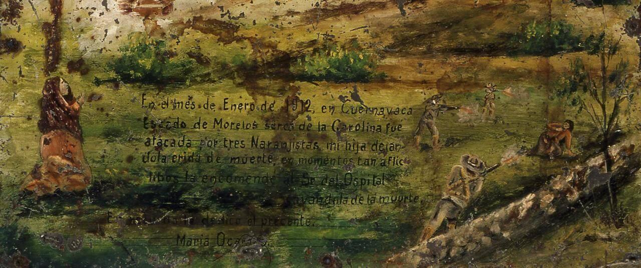 Exvoto devocionario al Señor del Hospital | Testimonios de fe: Colección de Exvotos del Museo Amparo | Museo Amparo, Puebla