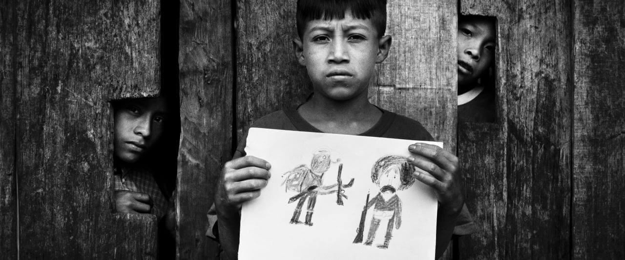 Ismael hizo un dibujo representando a Zapata y al Subcomandante Marcos. | Chiapas, insurrección zapatista en México, 1995-2013 | Museo Amparo, Puebla