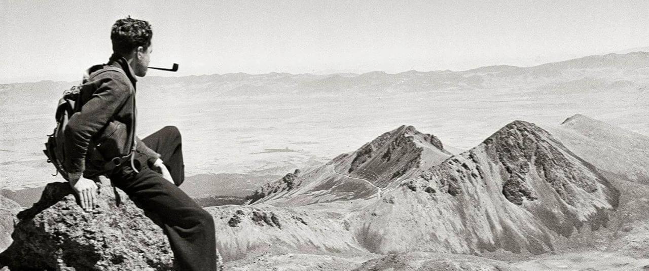 Autorretrato de Rulfo en el Nevado de Toluca  | El fotógrafo Juan Rulfo | Museo Amparo, Puebla