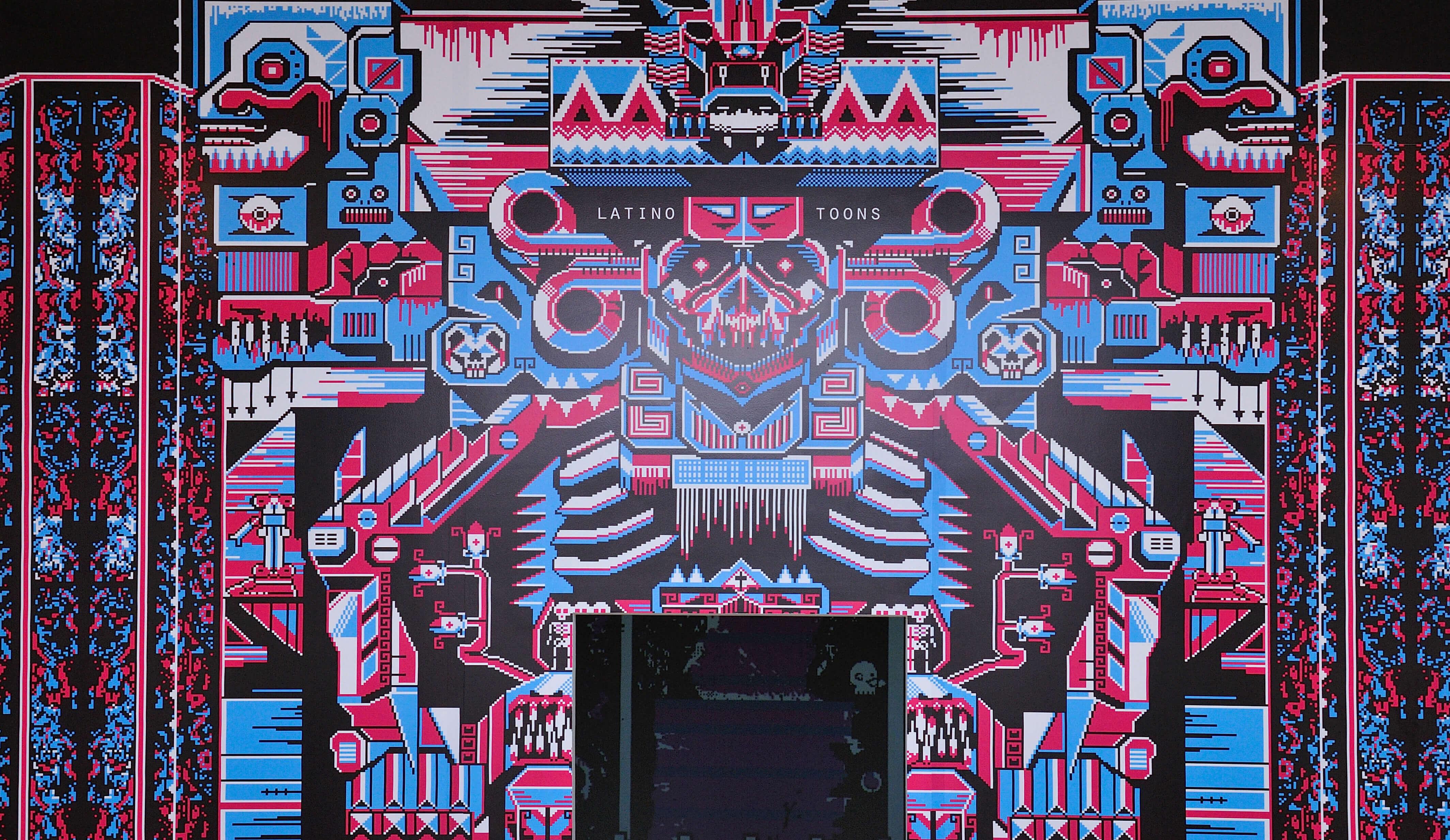 Pixel Death (Mictlán) | Latino toons. Taco de ojo: Tlacuilo | Museo Amparo, Puebla