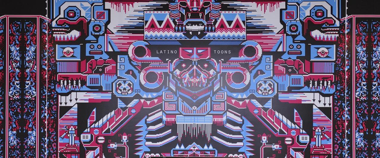 Pixel Death (Mictlán) | Taco de ojo: Tlacuilo | Museo Amparo, Puebla
