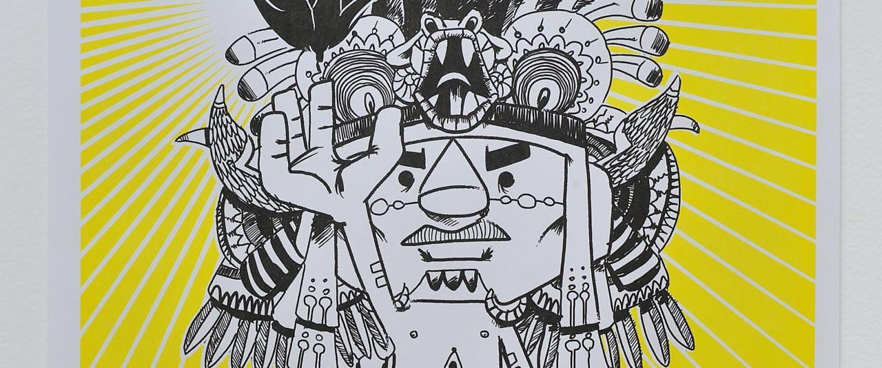 Maíz | Latino Toons. Taco de ojo: Tlacuilo | Museo Amparo, Puebla