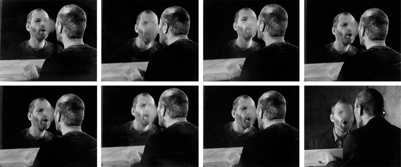 Der Fleck auf dem Spiegel, den der Atemhauch schafft (La marca en el espejo que deja la respiración) | Estructuras de identidad: Fotografía de la Colección Walther | Museo Amparo, Puebla