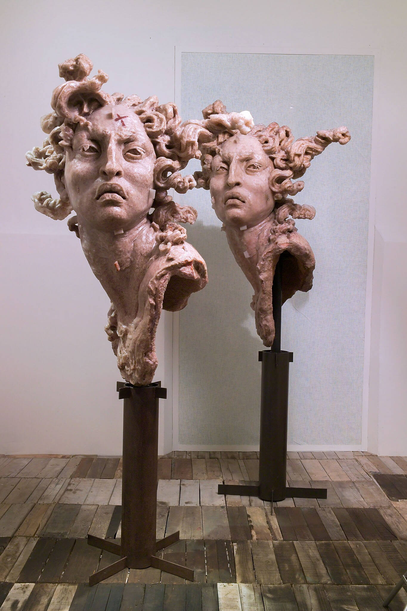 Cabeza de amaranto I, II | Javier Marín. Retrospectiva | Museo Amparo, Puebla