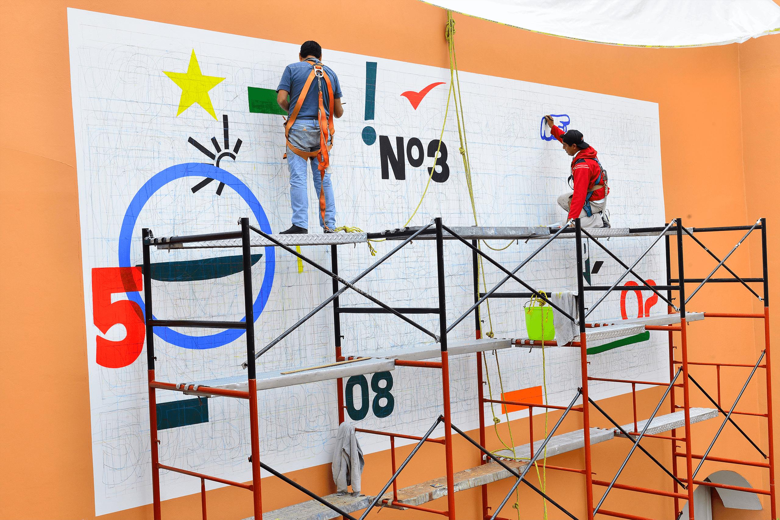 Arqueología del muro político. Palimpsesto de estudios preliminares   Tercerunquinto. Obra inconclusa   Museo Amparo, Puebla