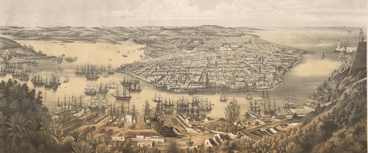 La Habana: Panorama general de la ciudad y su bahía | La metrópolis en América Latina, 1830-1930 | Museo Amparo, Puebla