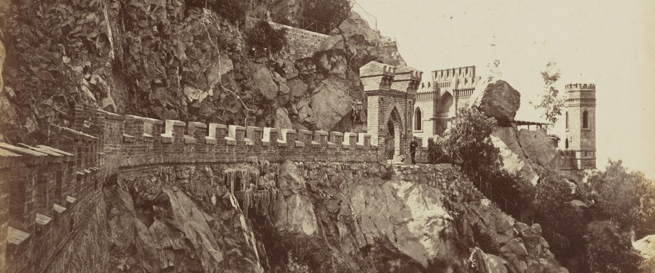 Vista en el cerro Santa Lucía, Santiago | La metrópolis en América Latina, 1830-1930 | Museo Amparo, Puebla