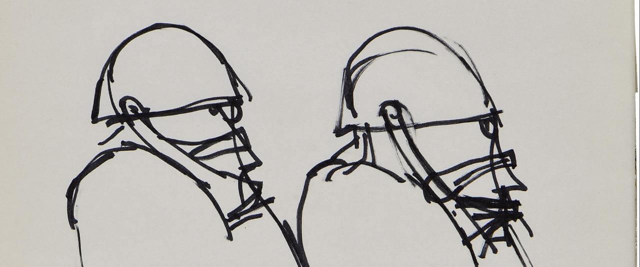 Sin título. Granaderos | Marcos Kurtycz. Contra el estado de guerra, un arte de acción total | Museo Amparo, Puebla