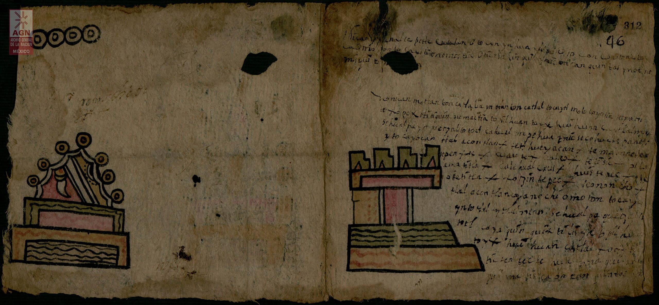 Códice de Coetzala, Chiautla de la Sal, Puebla | In Tlilli in Tlapalli. Imágenes de la nueva tierra: identidad indígena después de la conquista | Museo Amparo, Puebla