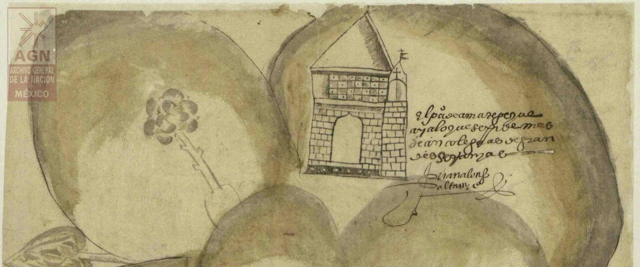 Mapa de Amatepec, Sultepec, Estado de México | In Tlilli in Tlapalli. Imágenes de la nueva tierra: identidad indígena después de la conquista | Museo Amparo, Puebla