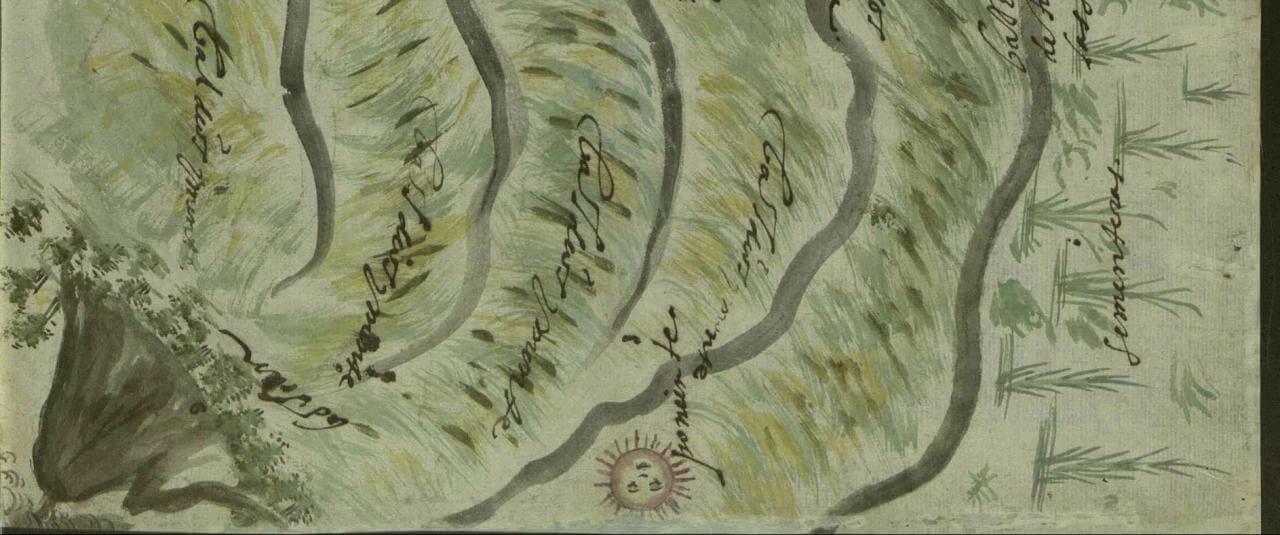 Mapa de Tochimilco, Puebla   In Tlilli in Tlapalli. Imágenes de la nueva tierra: identidad indígena después de la conquista   Museo Amparo, Puebla