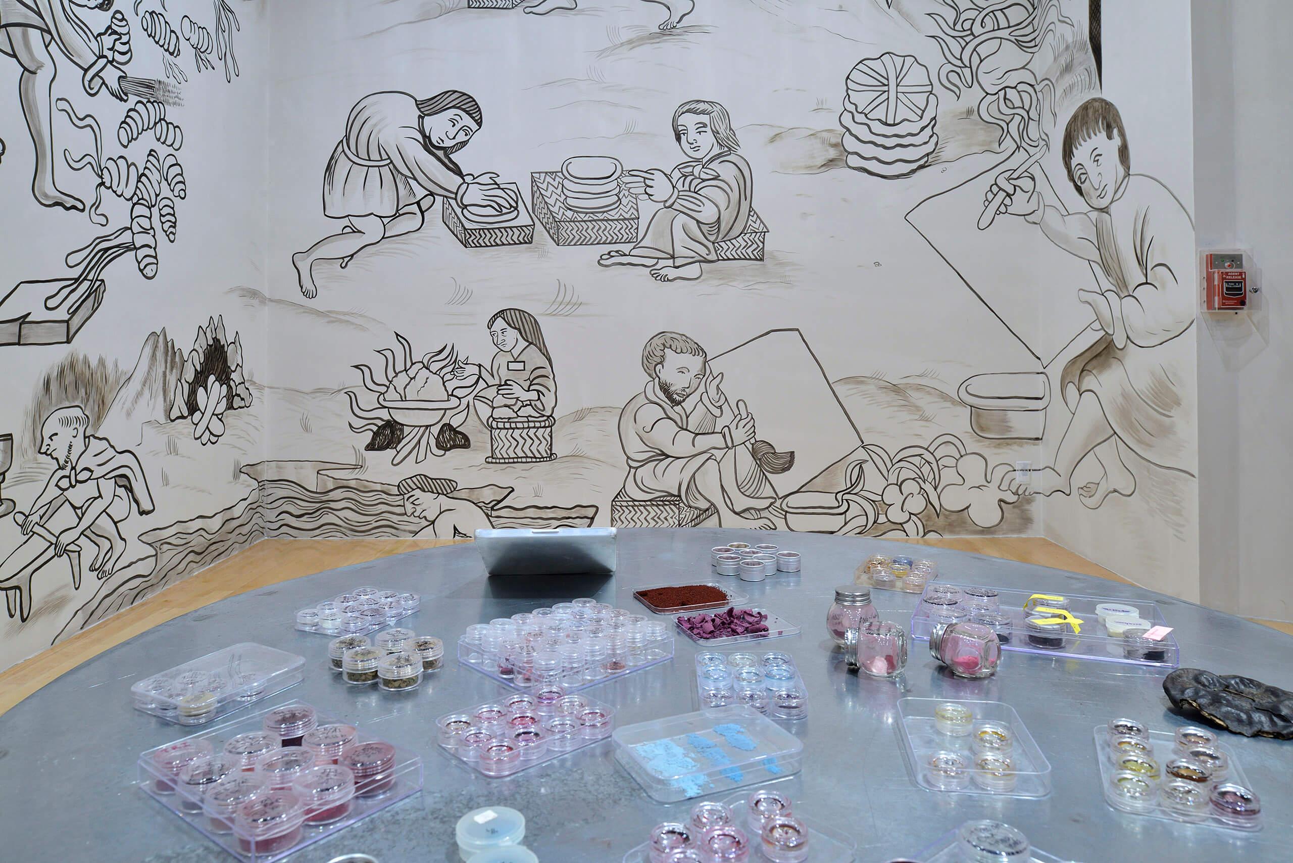 Para qué me diste las manos llenas de color, todo lo que toque se llenará de sol | In Tlilli in Tlapalli. Imágenes de la nueva tierra: identidad indígena después de la conquista | Museo Amparo, Puebla