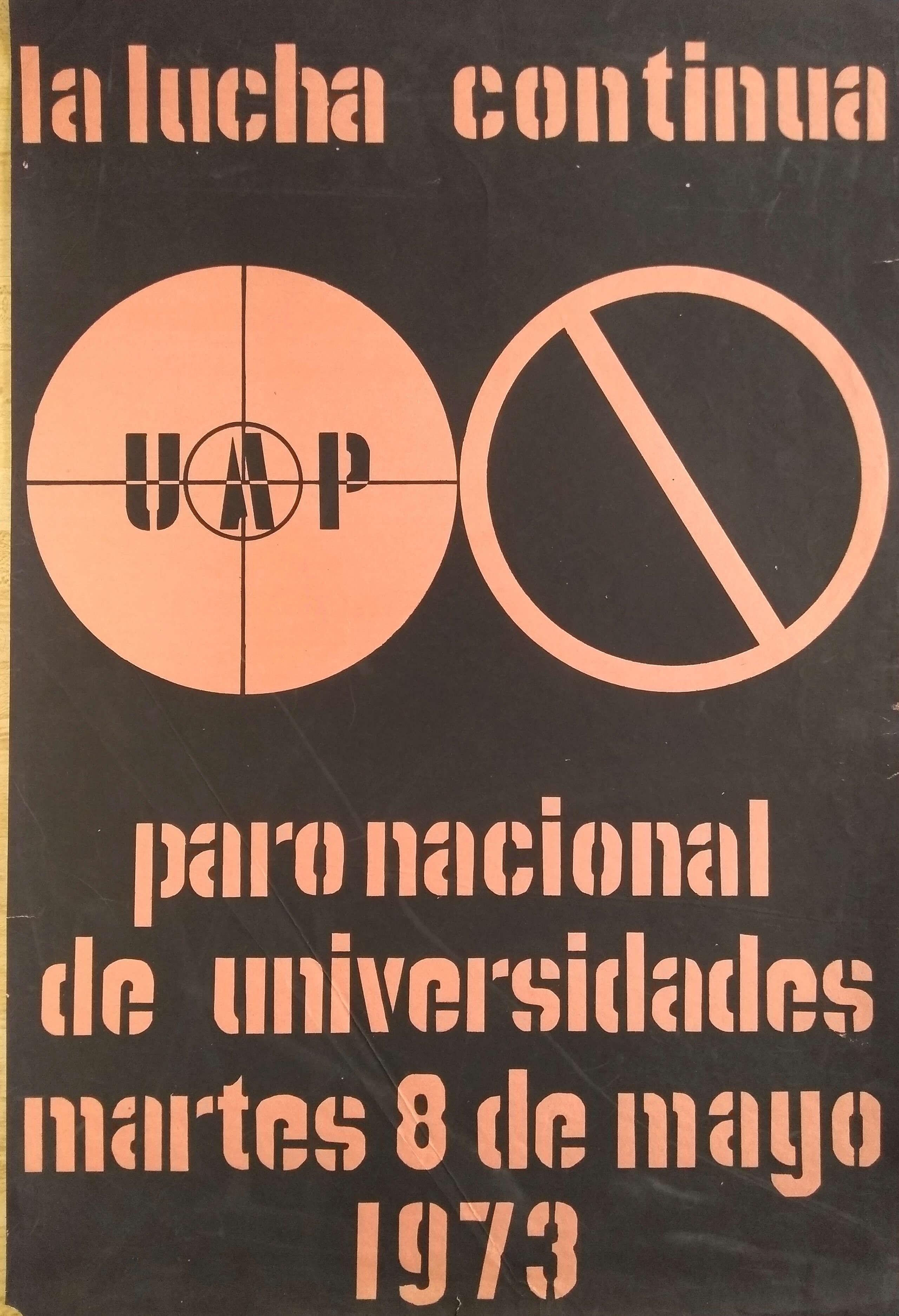 Cartel de la Escuela Popular de Arte, UAP | La demanda inasumible. Imaginación social y autogestión gráfica en México, 1968-2018 | Museo Amparo, Puebla