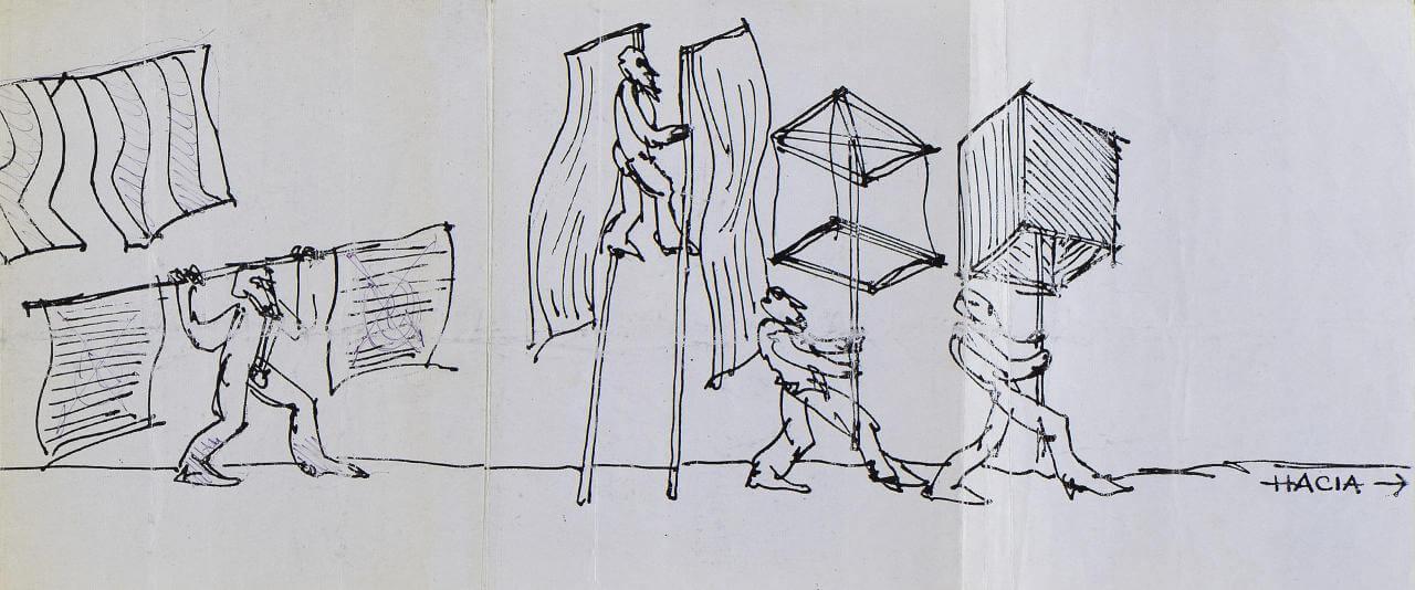 Exprocesión 1977, Plan acción | Marcos Kurtycz. Contra el estado de guerra, un arte de acción total | Museo Amparo, Puebla