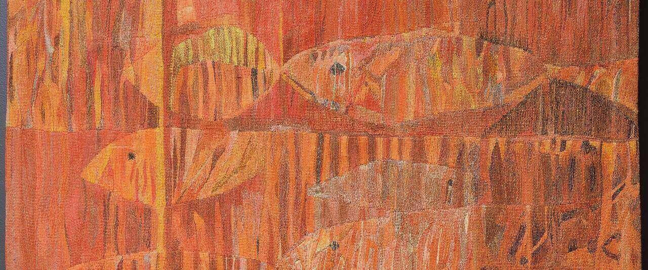 Peces | Nacido en casa. Devenires y porvenires del oficio de la tapicería Alto Liso en Jalisco, 1968-2018 | Museo Amparo, Puebla