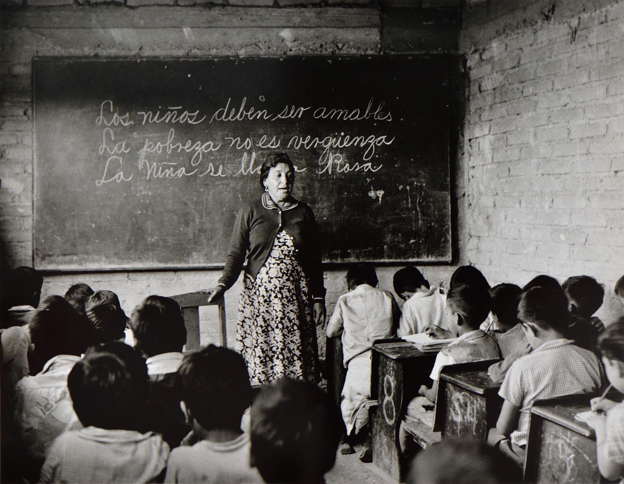 La lección | Rodrigo Moya. México | Museo Amparo, Puebla