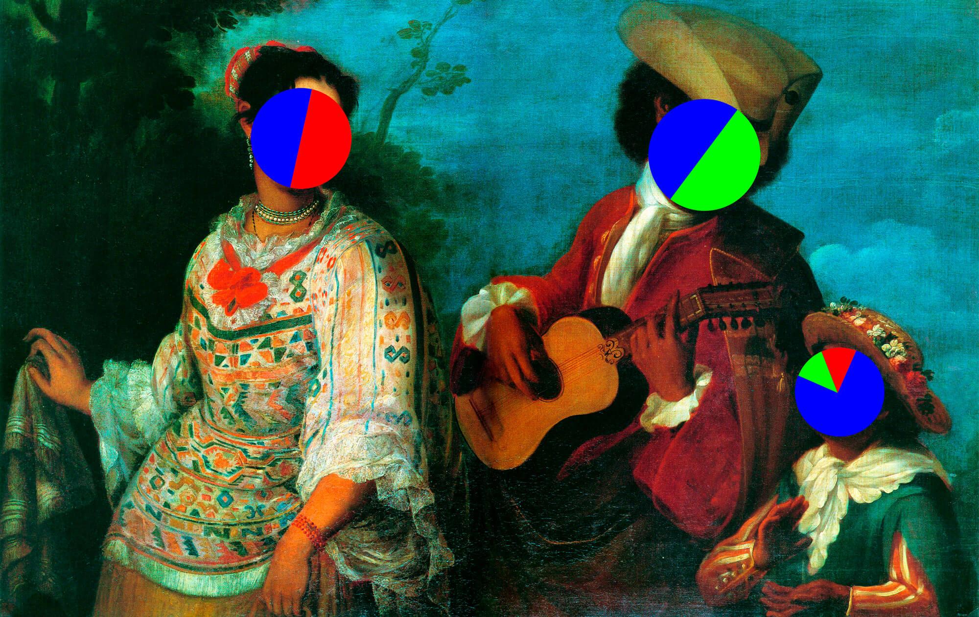 Étude taxonomique-comparative entre les castes de la Nouvelle Espagne et celles du Mexique Contemporain [Estudio taxonómico comparativo entre las castas de la Nueva España y las del México contemporáneo] | Re Mayor No Es Azul | Museo Amparo, Puebla