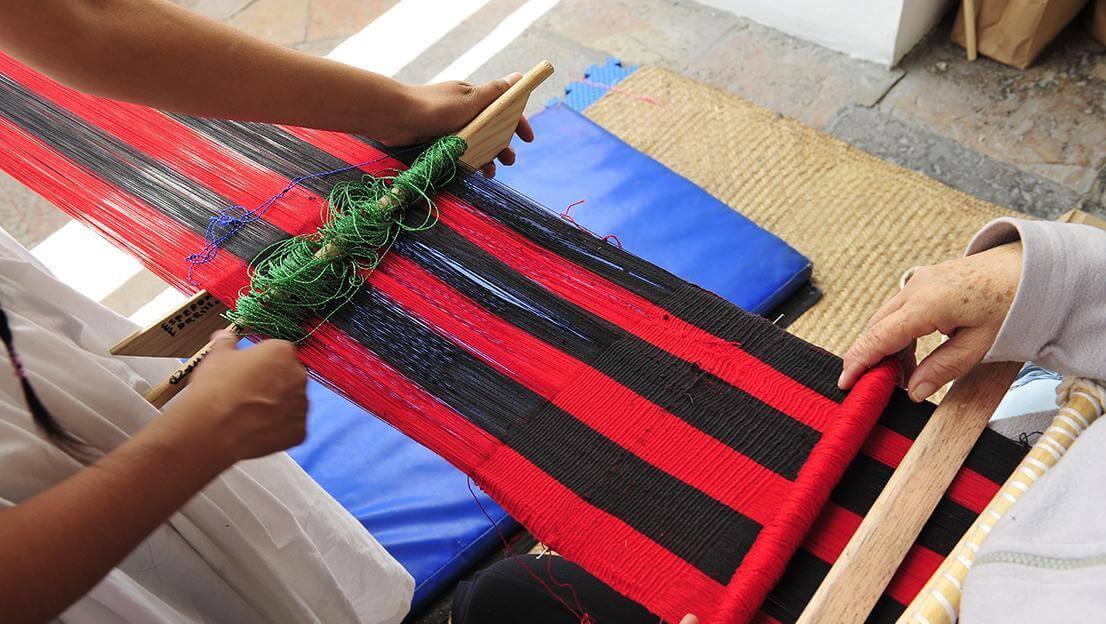 Taller de telar de cintura | Museo Amparo, Puebla.